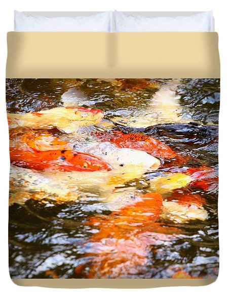 Duvet Cover featuring the photograph Riverbanks Zoo 2100 A by Joseph C Hinson Photography