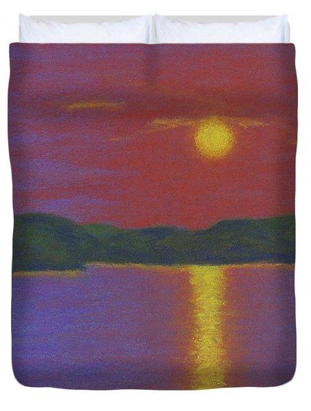 Riverboat Sunset Duvet Cover