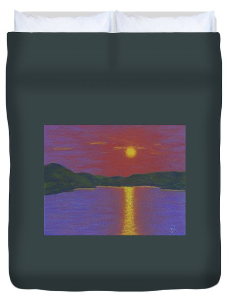 Riverboat Sunset Duvet Cover