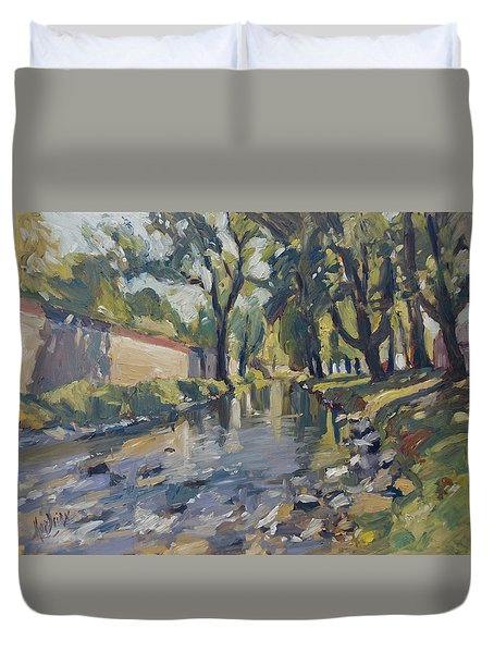 Riverjeker In The Maastricht City Park Duvet Cover