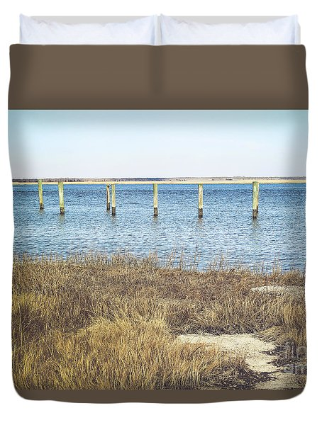 Duvet Cover featuring the photograph River's Edge by Colleen Kammerer