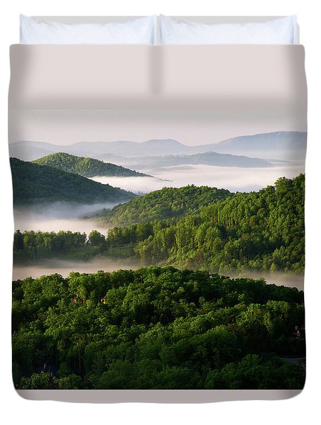 Rivers Of White Duvet Cover
