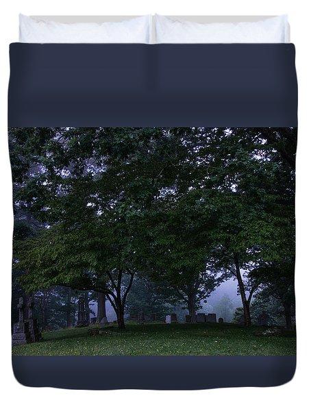 Riverside Cemetery Duvet Cover