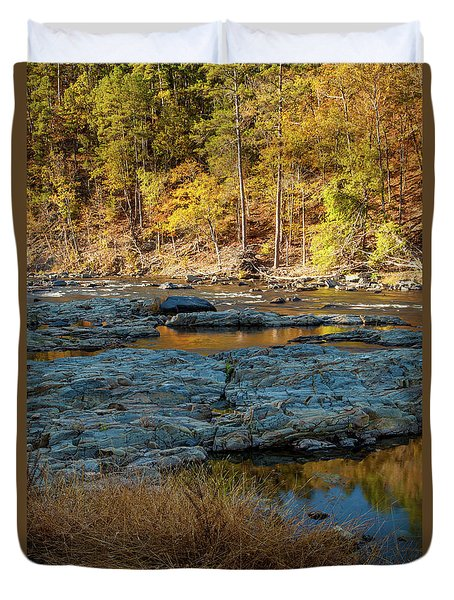 Duvet Cover featuring the photograph Riverside by Iris Greenwell