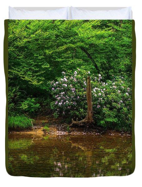 Riverside Rhododendron Duvet Cover