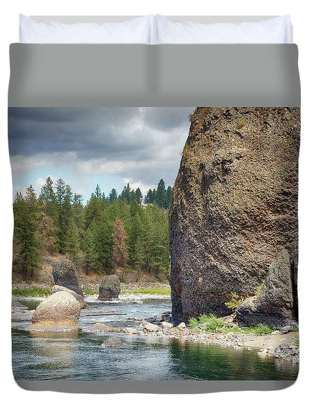 Riverside State Park Duvet Cover by Hugh Smith