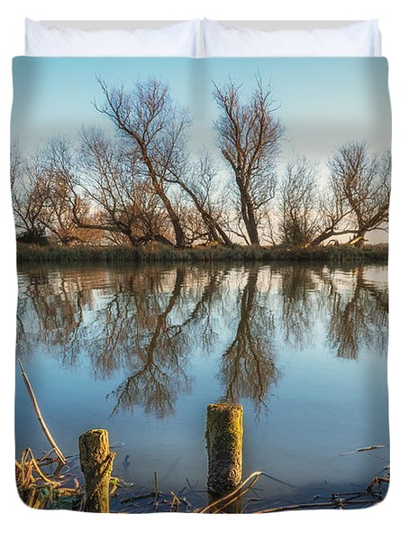 Riverside Trees Duvet Cover