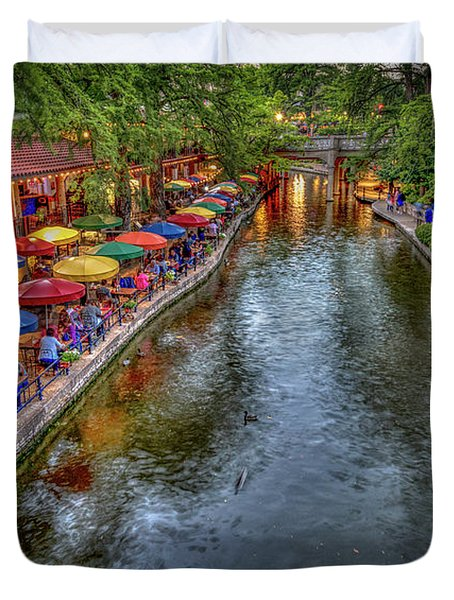 Riverwalk San Antonio Texas Duvet Cover
