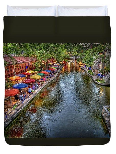 Riverwalk San Antonio Texas Duvet Cover