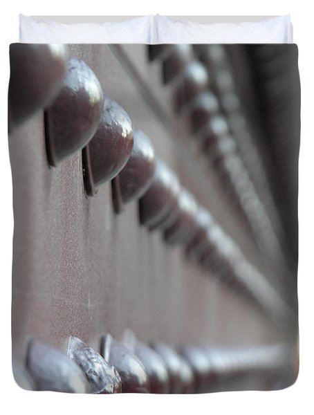 Rivets Duvet Cover by Diane Greco-Lesser