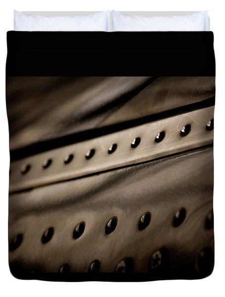 Duvet Cover featuring the photograph Rivets by Paul Job