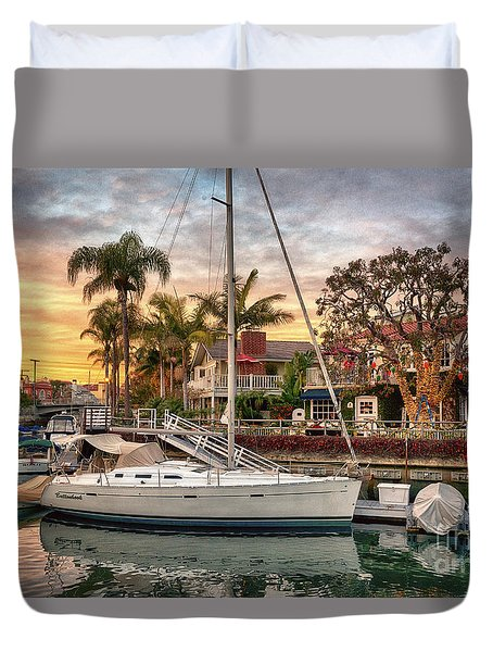 Rivo Alto Canal And Naples Canals Duvet Cover