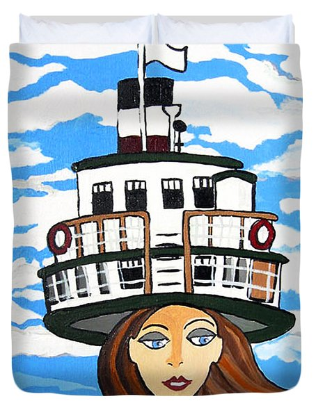R.m.s. Segwun - Delivering The Mail  Duvet Cover