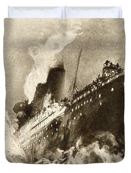 Rms Titanic Of The White Star Line Duvet Cover