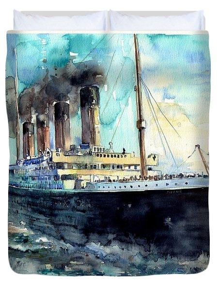 Rms Titanic White Star Line Ship Duvet Cover