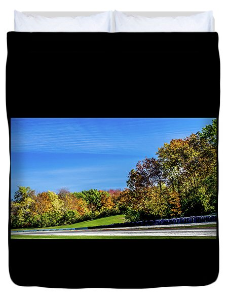 Road America In The Fall Duvet Cover