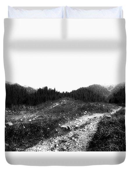 Road Duvet Cover by Hayato Matsumoto