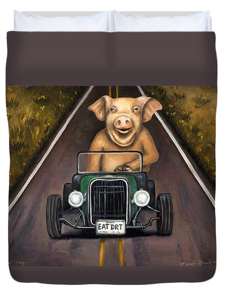 Road Hog Duvet Cover by Leah Saulnier The Painting Maniac