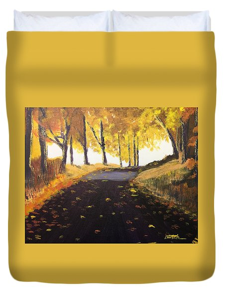 Road In Autumn Duvet Cover