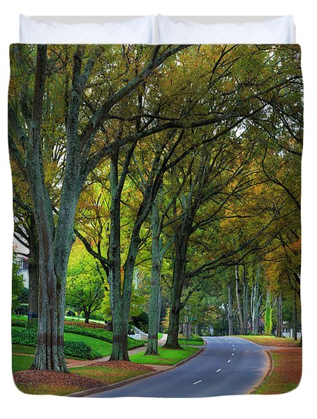 Road In Charlotte Duvet Cover