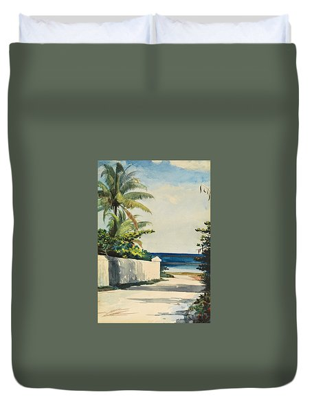 Road In Nassau, No. 1 Nassau Street Duvet Cover