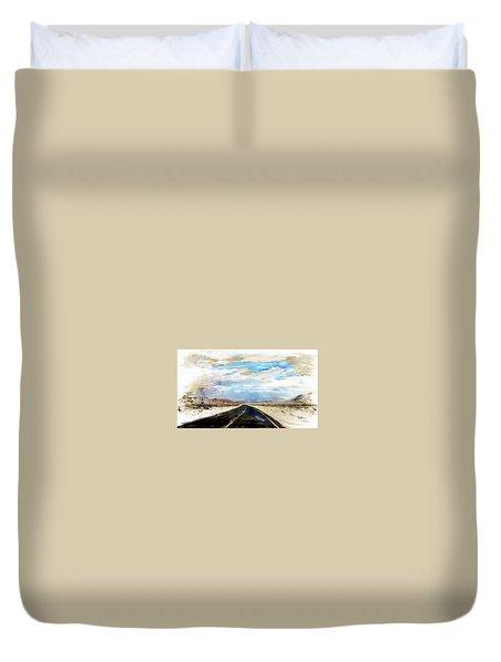 Road In The Desert Duvet Cover by Robert Smith