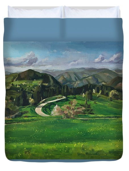 Road In The Mountains Duvet Cover