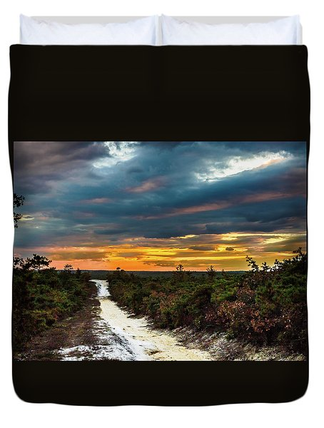 Road Into The Pinelands Duvet Cover