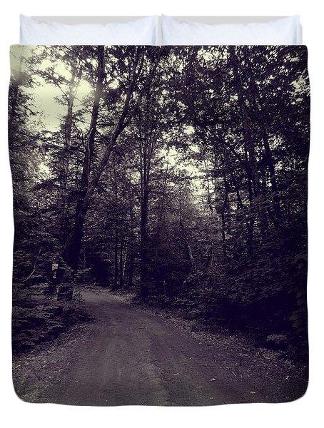 Road Into The Woods Duvet Cover by Susan Lafleur