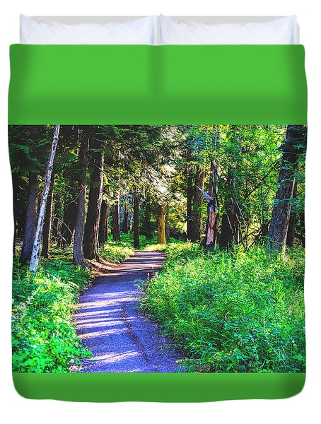 Duvet Cover featuring the photograph Road Less Traveled by Susan Crossman Buscho