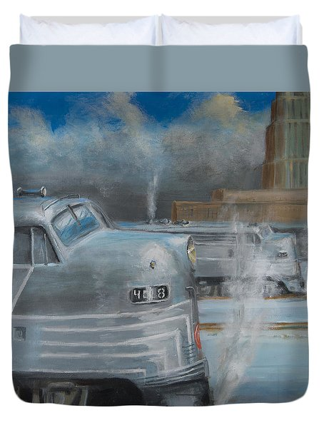 Road Power At Buffalo Duvet Cover by Christopher Jenkins