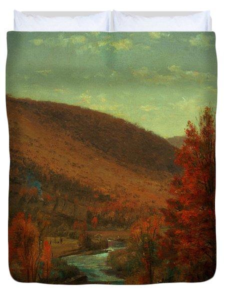 Road Through Belvedere Duvet Cover by Thomas Worthington