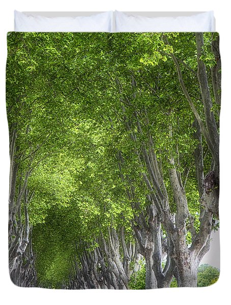 Duvet Cover featuring the photograph Road To Arles by Gigi Ebert