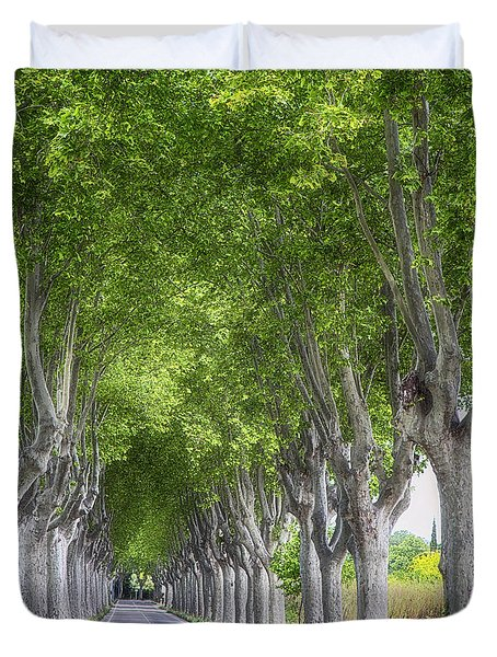 Road To Arles Duvet Cover