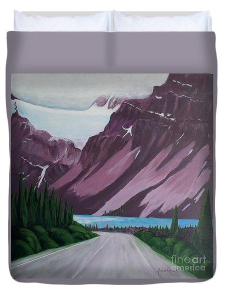 Road To Banff Duvet Cover