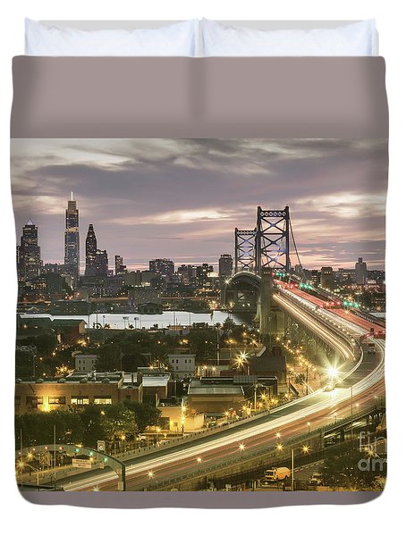 Road To Brotherly Love Duvet Cover