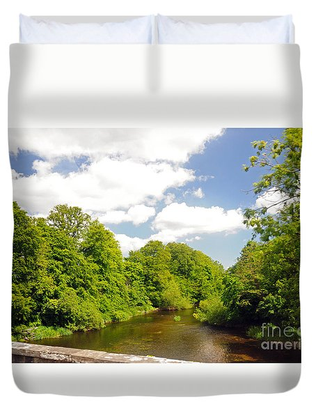 Road To Dunboyne Duvet Cover by Cindy Murphy - NightVisions