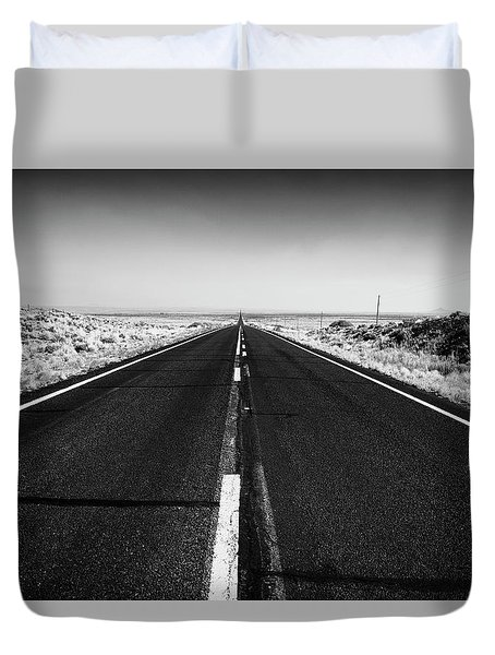 Road To Forever Duvet Cover by David Cote