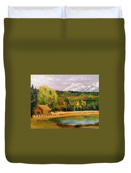 Road To Kintla Lake Duvet Cover