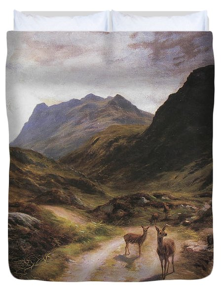 Road To Loch Maree Duvet Cover