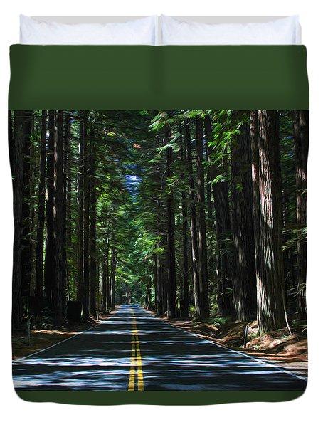 Road To Mendocino Duvet Cover
