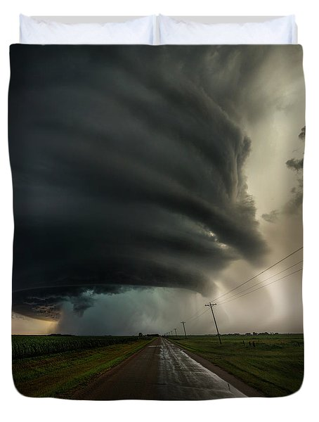 Duvet Cover featuring the photograph Road To Mesocyclone by Aaron J Groen