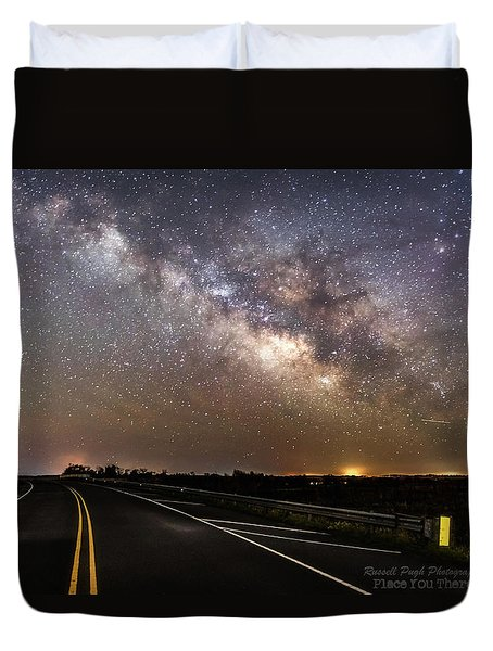 Road To Milky Way Duvet Cover
