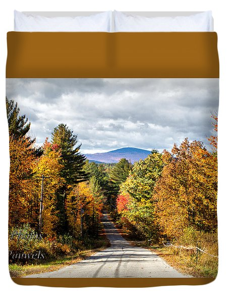 Road To Mt. Kearsage Duvet Cover