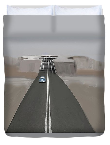 Road To Music Duvet Cover