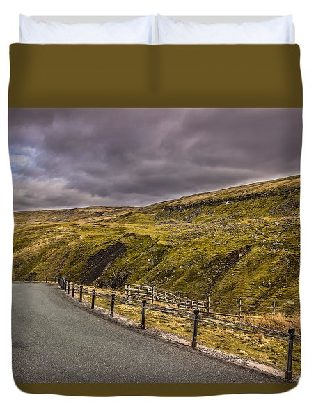 Road To No Where Duvet Cover by David Warrington