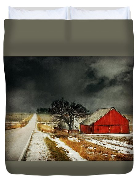 Duvet Cover featuring the photograph Road To Nowhere by Julie Hamilton