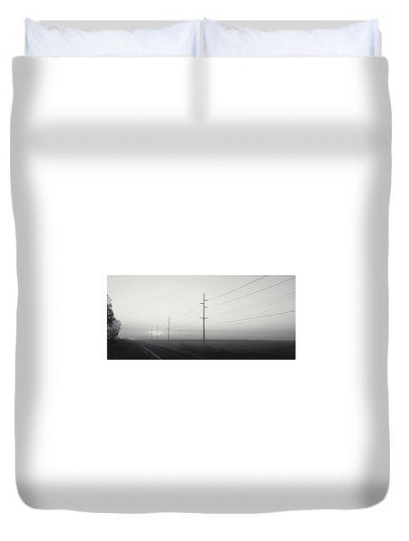 Road To Nowhere Duvet Cover by Sarah Boyd