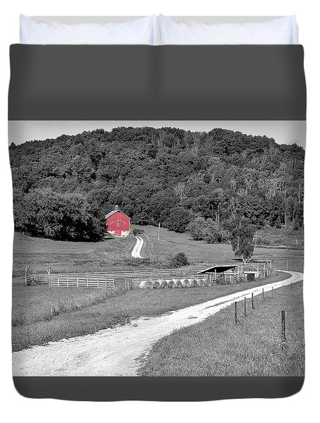 Road To Red Duvet Cover