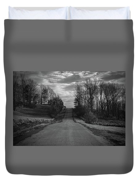 Road To Success Duvet Cover by Stefanie Silva